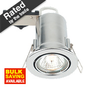 LAP Adjustable Round Mains Volt. Fire Rated Downlight Polished Chrome 240V