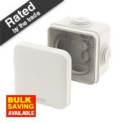 4-Entry Junction Box with Knockouts Grey 65 x 65 x 45mm