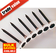 Collated Drywall Screws Black Fine Thread 3.5 x 25mm Pack of 1000