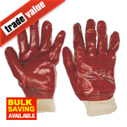 Keep Safe PVC Gloves Red Large