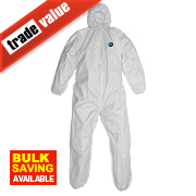 "Tyvek Classic Hooded Coverall White X Large 42-46"" Chest 31"" L"