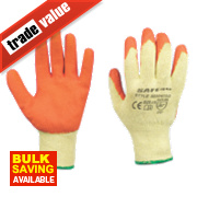 Safe 4U Builders Gloves Orange Medium