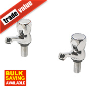 Swirl Contract Metal Head Bathroom Basin Taps Chrome