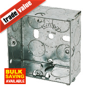 Appleby Galvanised Steel Knockout Box 1G 25mm
