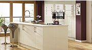 Cream Gloss Fitted Kitchen