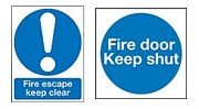 Fire Door & Escape Signs