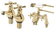 Swirl Gold Effect Taps