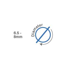 6.5mm - 8mm