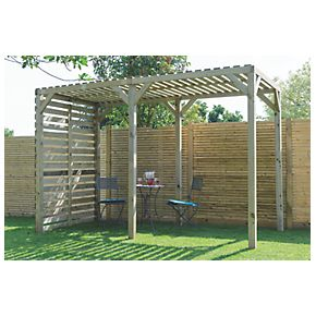 Grange Urban Garden Pergola PressureTreated Green 1.8 x 1.8 x 2.4m
