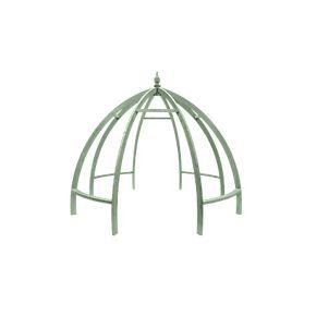 Grange Apollo Garden Pergola Sage Green 3.45 x 3.45 x 2.85m