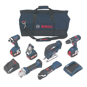 Bosch 0615990H1P 18V 4.0Ah LiIon Wireless Charging 6Piece Kit