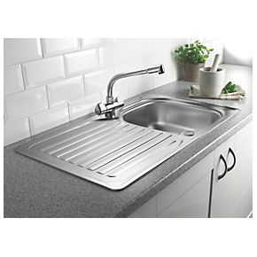 Franke Sink Cover : Franke 1 Bowl Kitchen Sink with Tap & Drainer Stainless Steel 860 x ...