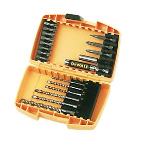 DeWatt 19 Piece Screwdriver/Masonry Bit Set - Screwfix