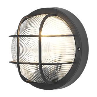 screwfix direct led bulkhead wall light black 240v. Black Bedroom Furniture Sets. Home Design Ideas