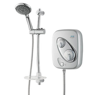 buy cheap chrome power shower compare bathrooms and. Black Bedroom Furniture Sets. Home Design Ideas