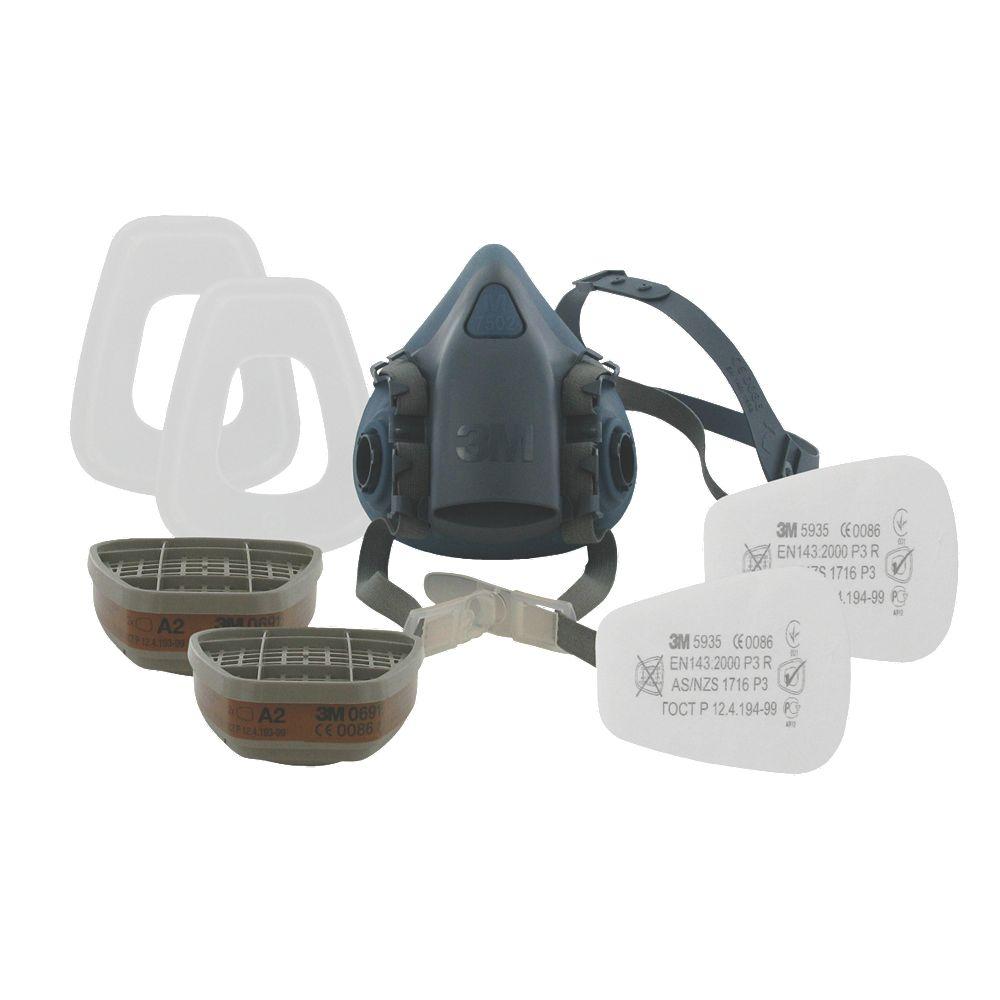 Image is loading NEW-3M-7523-7523-Half-Mask-Respirator-amp-