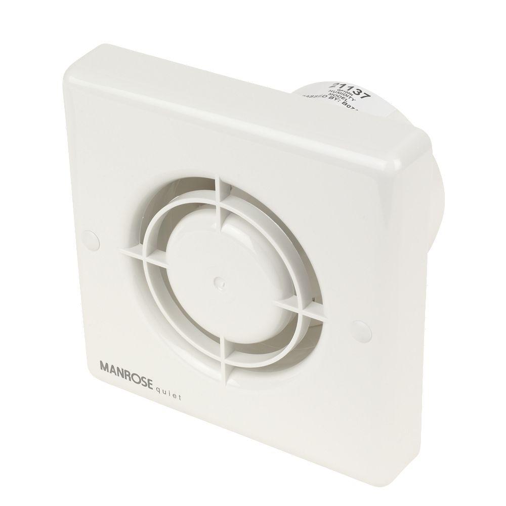 NEW Manrose QF100H 5W Quiet Fan Bathroom Axial Extractor