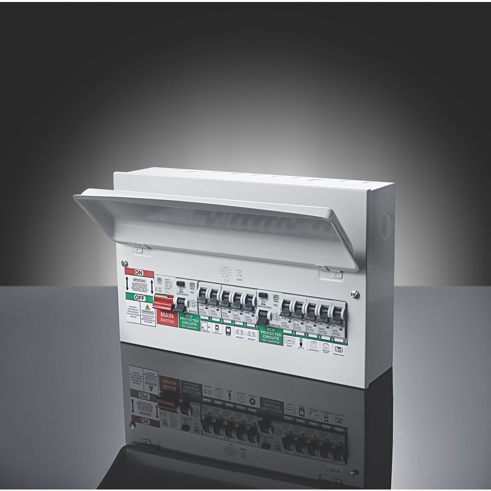 New consumer unit fuse boards new regulations reay electrical mk sentry 16 module 10 way metal split load consumer unit asfbconference2016 Choice Image