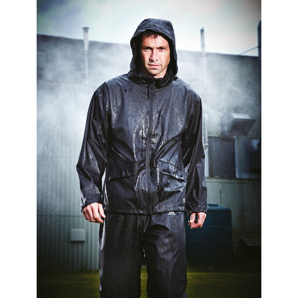 new helly hansen voss trousers waterproof black x large 39 41 w 34 l ebay. Black Bedroom Furniture Sets. Home Design Ideas