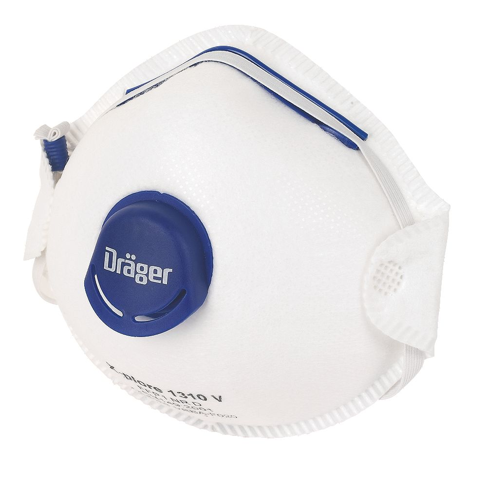 NEW Draeger Cup-Valved Dust Masks P1 Pack of 10