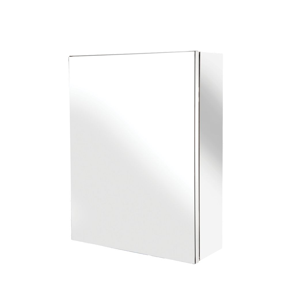New croydex avon single door bathroom cabinet stainless for Bathroom cabinets 400mm
