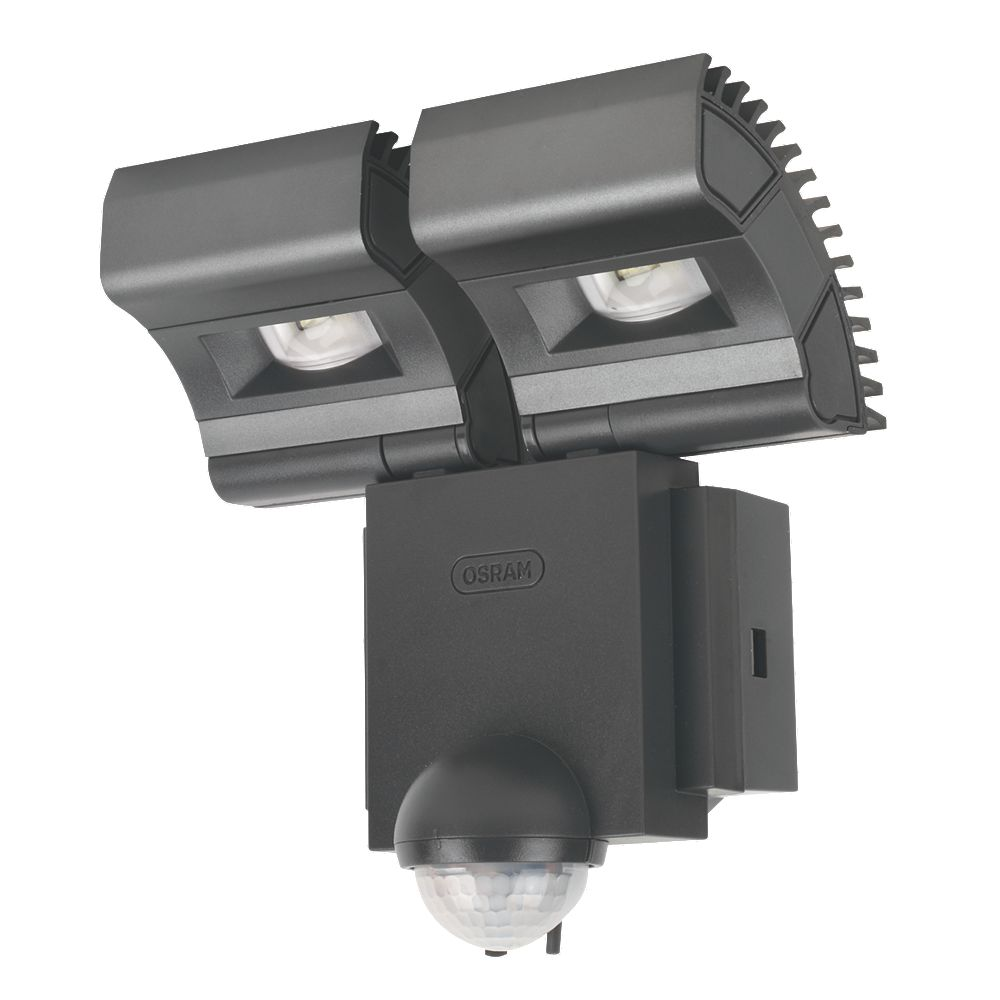 new osram noxlite led twin spotlight with sensor 16w black ebay. Black Bedroom Furniture Sets. Home Design Ideas
