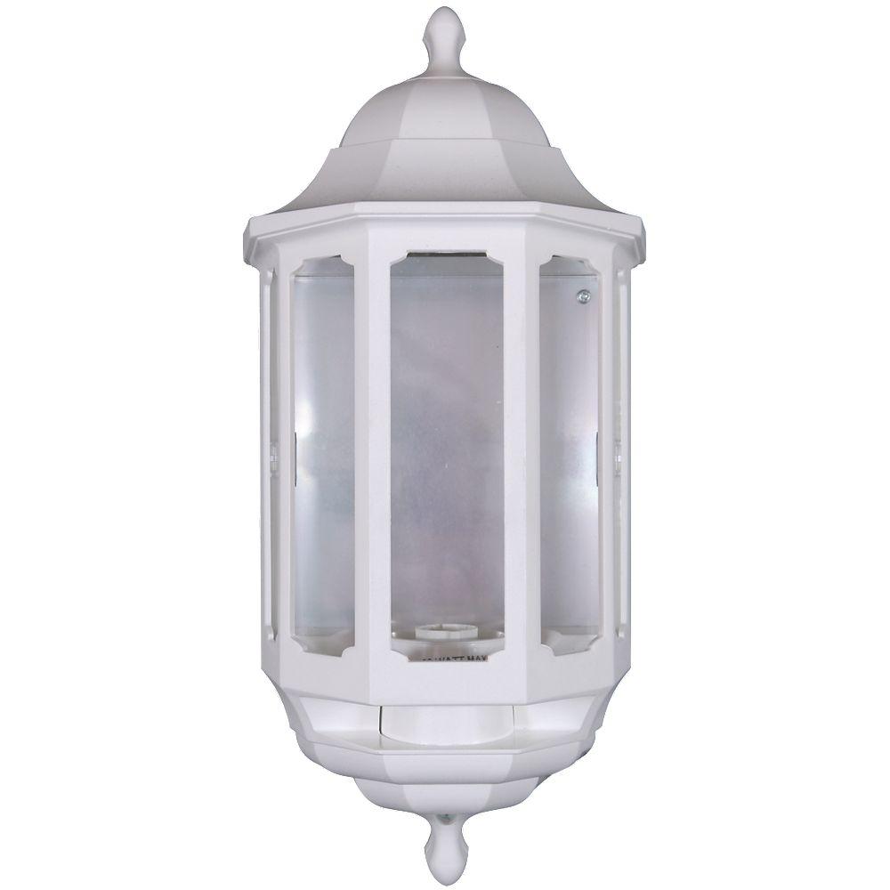 Half Lantern Wall Lights : NEW ASD 60W White Slave Half Lantern Wall Light PIR Included eBay