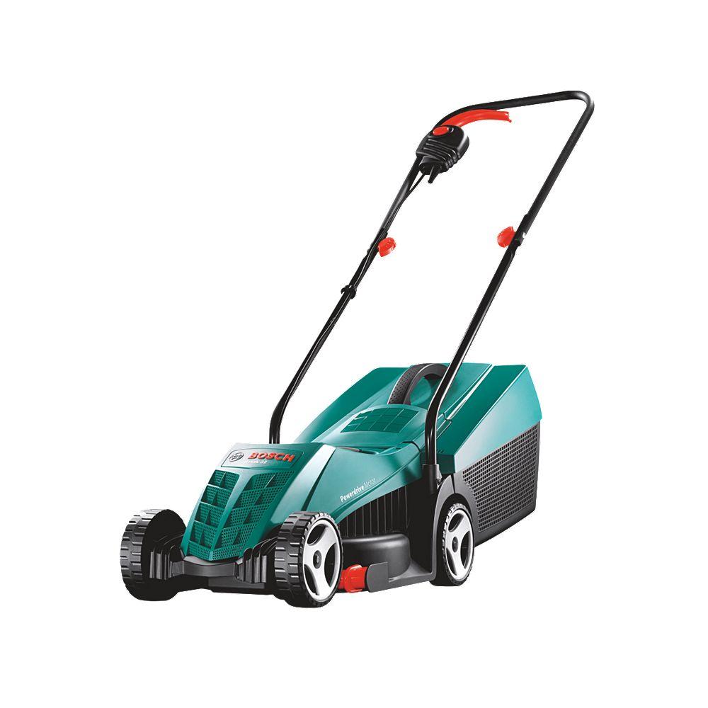 new bosch rotak 32 r 1200w 32cm electric rotary lawn mower 240v ebay. Black Bedroom Furniture Sets. Home Design Ideas