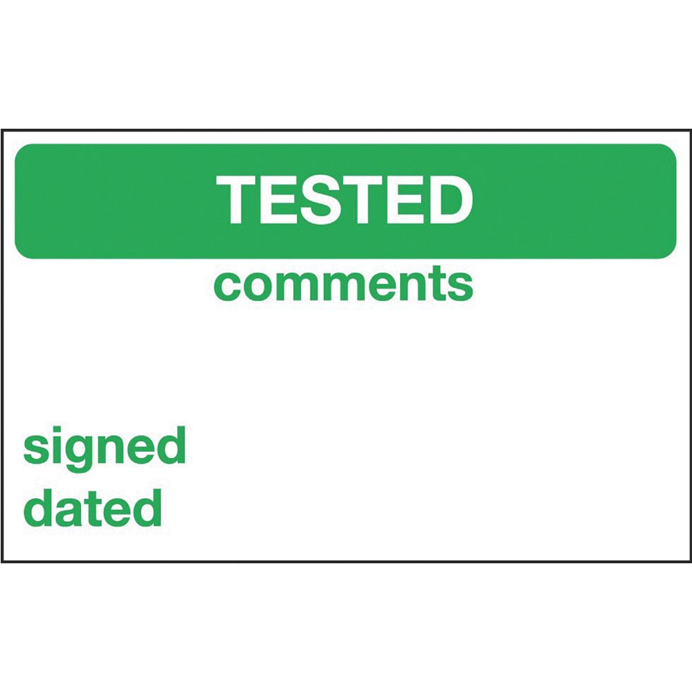 """NEW Electrical Inspection /""""Tested/"""" Labels 25 x 40mm Pack of 250"""
