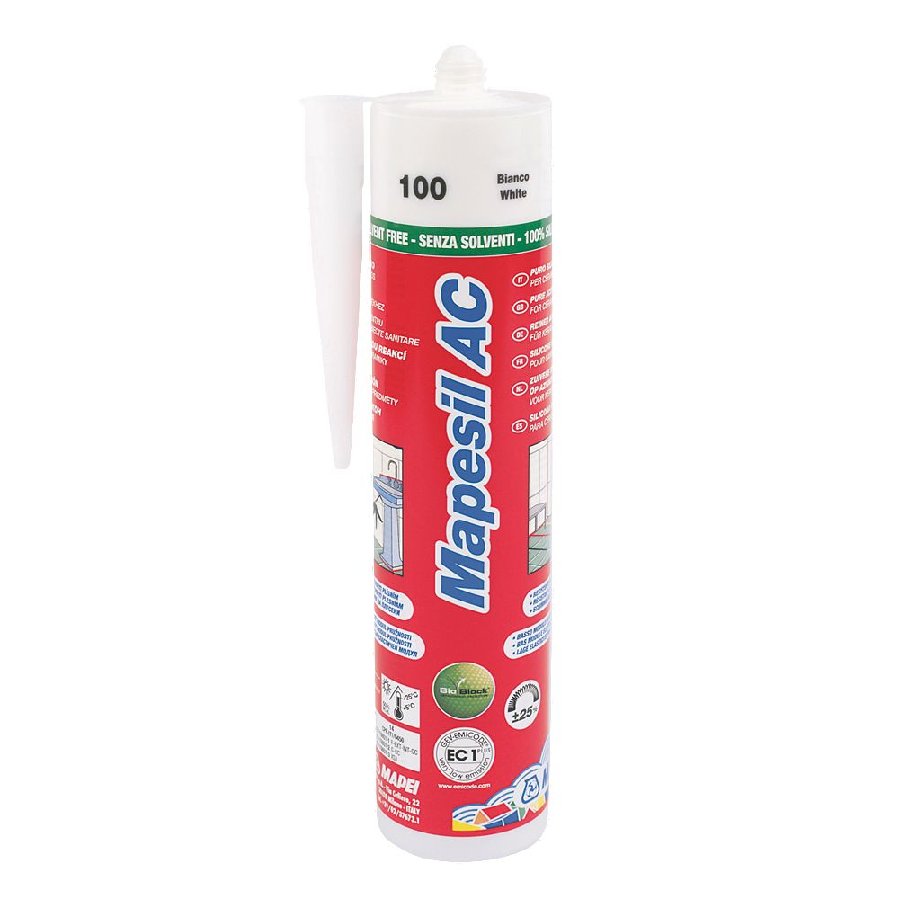 Details about Mapei Mapesil Solvent-Free Silicone Sealant White 310ml