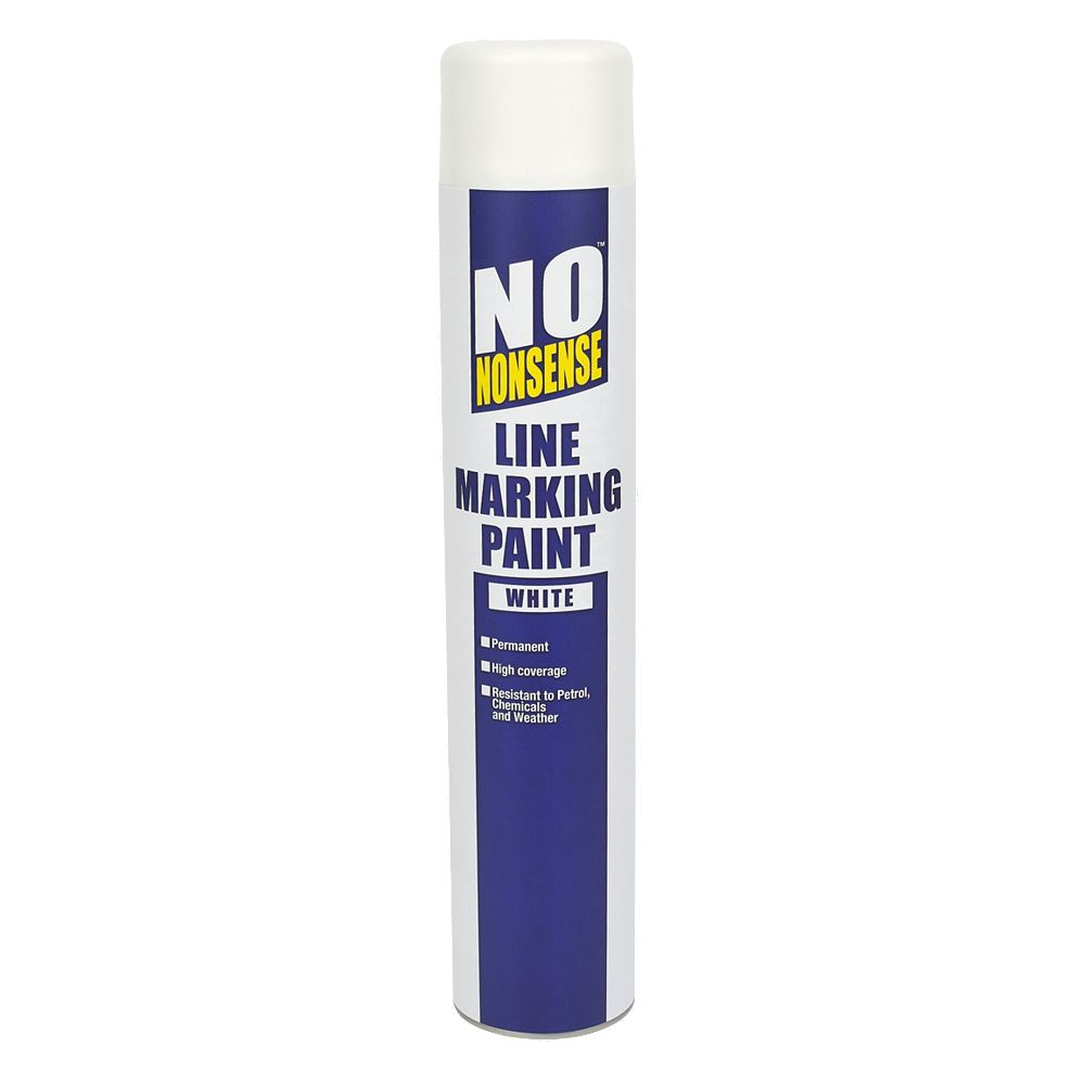 No nonsense line marking paint white 750ml ebay for White line marker paint