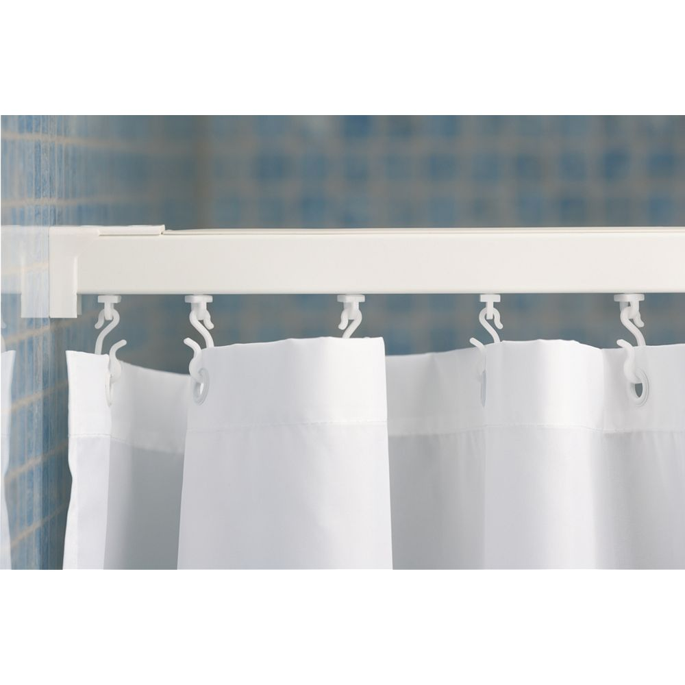 croydex straight straight shower curtain rail aluminium. Black Bedroom Furniture Sets. Home Design Ideas