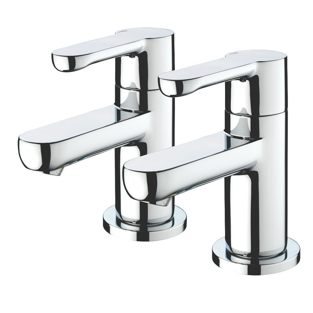NEW Bristan Nero Bath Pillar Bathroom Taps Pair 5054480784955 | eBay