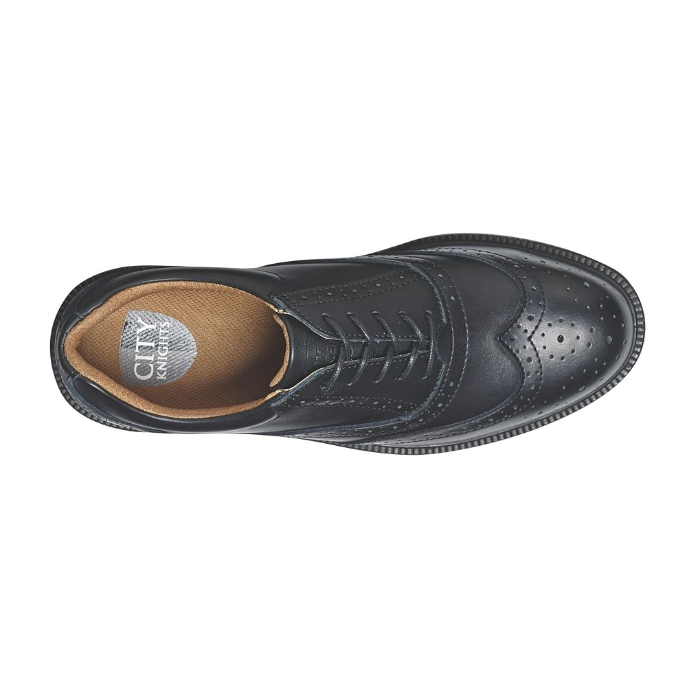 City Knights Brogue Executive Safety Shoes Black