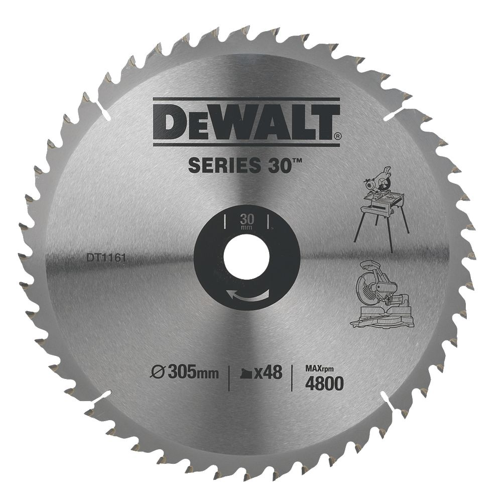 New dewalt dt1161 qz circular saw blade stationary 305 x 30mm 48t image is loading new dewalt dt1161 qz circular saw blade stationary keyboard keysfo Choice Image
