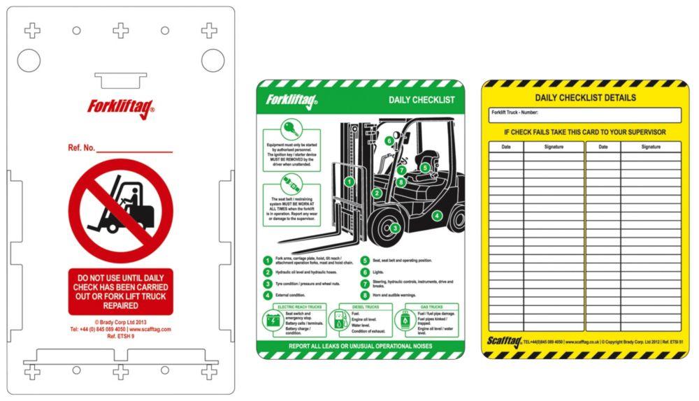 Image of Scafftag Forklift Tag Kit 340 x 220mm