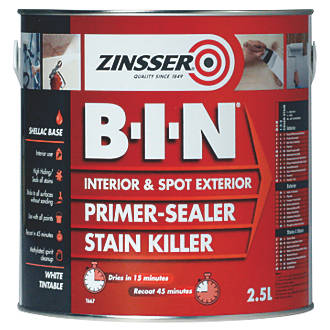 Image of Zinsser B-I-N Shellac-Based Primer Sealer 2.5Ltr