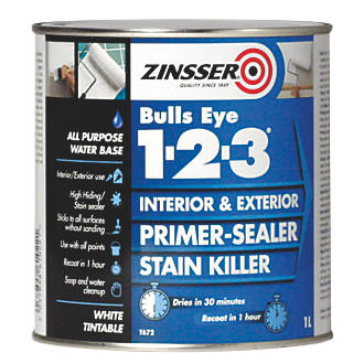 Image of Zinsser Bulls Eye 1-2-3 Primer-Sealer 1Ltr