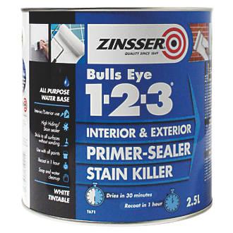 Image of Zinsser Bulls Eye 1-2-3 Primer-Sealer 2.5Ltr