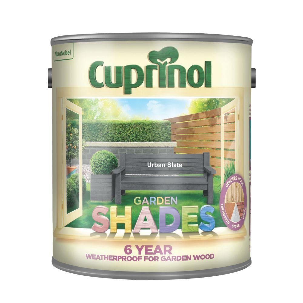 Image of Cuprinol Garden Shades Woodstain Matt Urban Slate 2.5Ltr