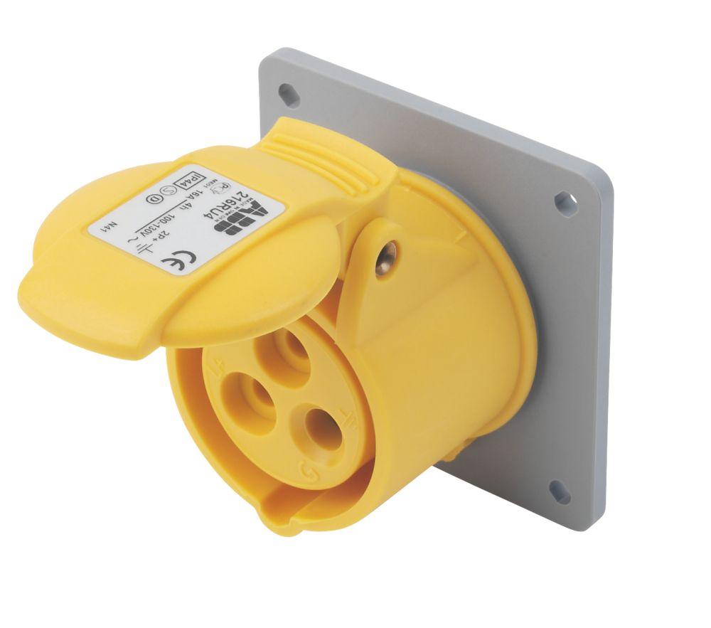 Image of ABB Panel Socket 16A 2P+E 110V 4H IP44