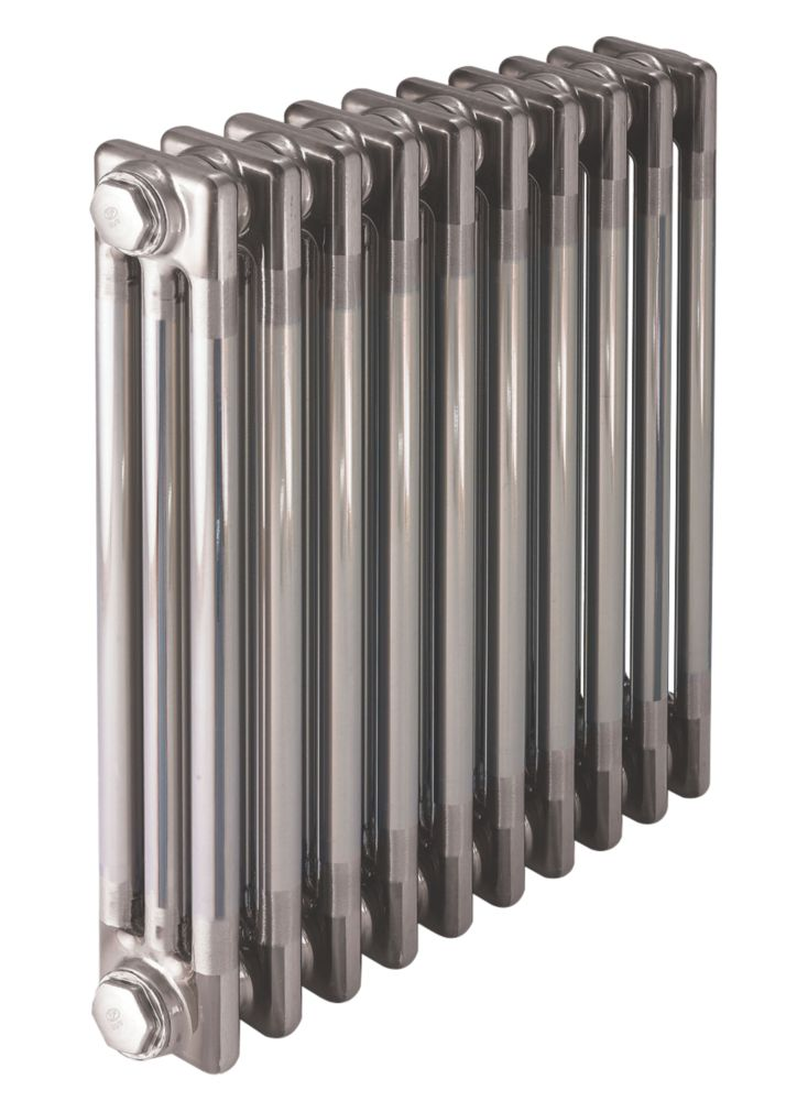 Image of Acova 3-Column Horizontal Designer Radiator 600 x 1226mm Raw Metal