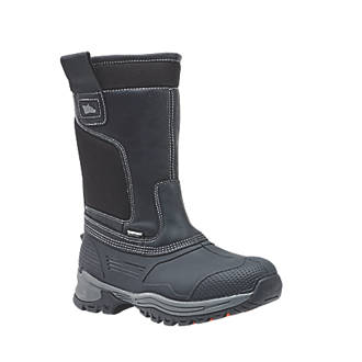 Image of Hyena Nevis Safety Rigger Boots Black Size 8
