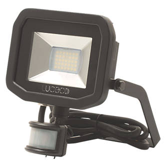 Image of Luceco Guardian LED Floodlight & PIR Black 15W Cool White