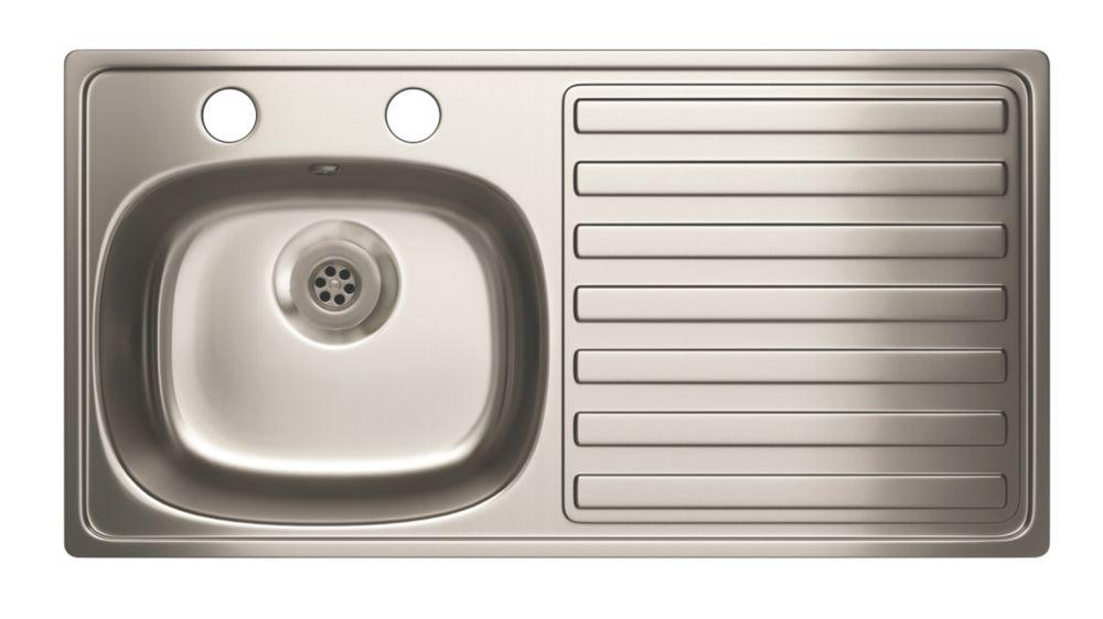 Image of Carron Phoenix Kitchen Sink Stainless Steel 1 Bowl 940 x 485mm