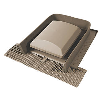 Image of Glidevale Universal Tile Ventilator Brown