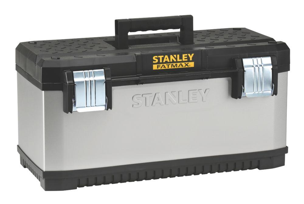 """Image of Stanley FatMax 23"""" Metal Plastic Tool Box"""
