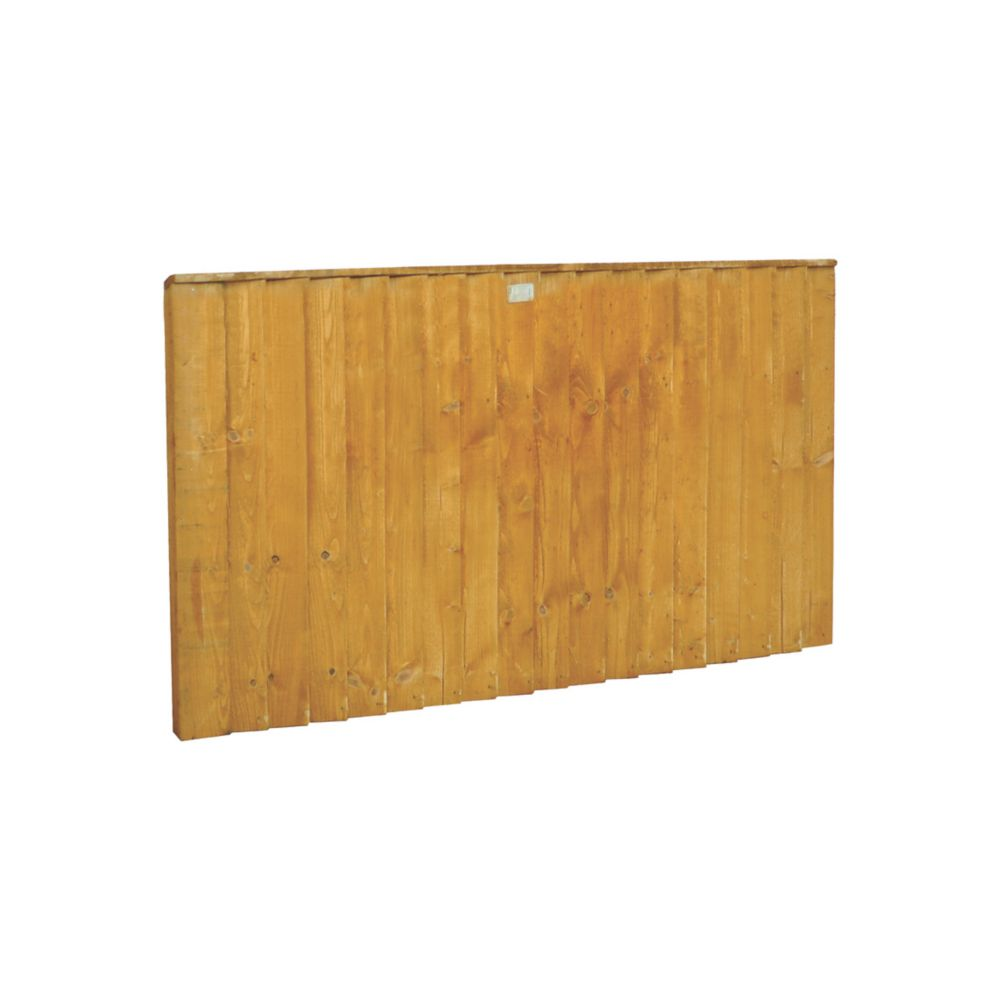 Image of Forest Feather Edge Fence Panels 1.82 x 0.9m 3 Pack