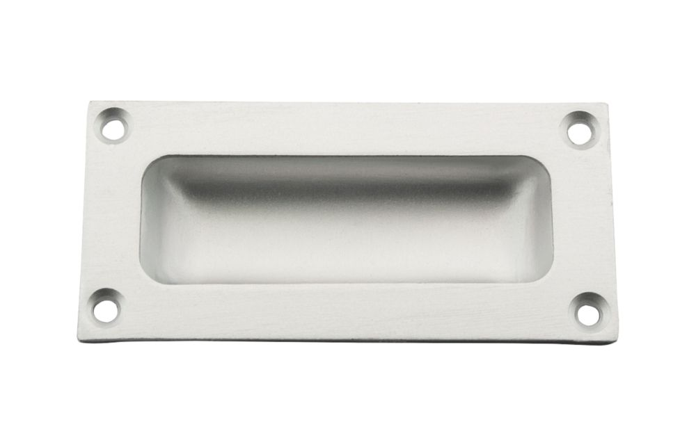 Image of Flush Pull 89mm Satin Anodised Aluminium