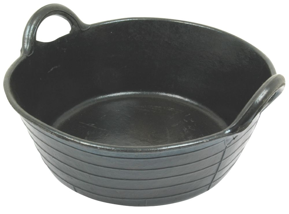 Image of Faulks & Cox Large Rubber Feed Skip Black 20Ltr